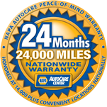 We support the NAPA Peace of Mind Warranty